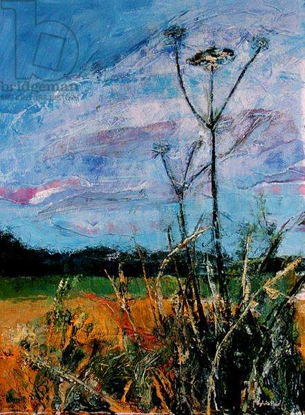 Field Corner (mixed media and collage on paper)