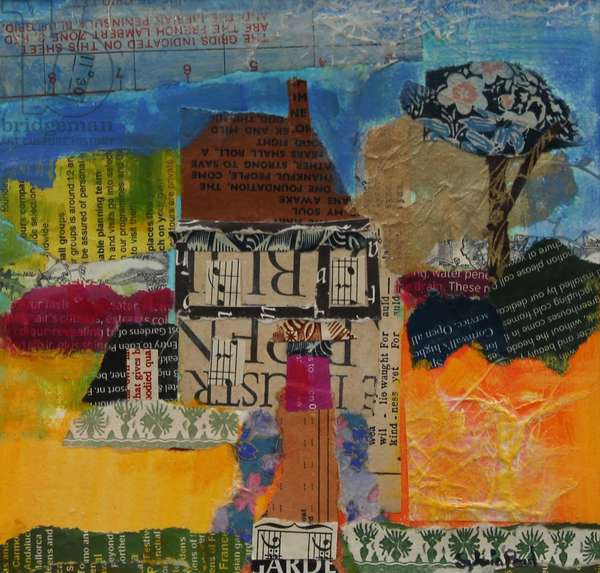Holiday Home 2013, acrylic/paper collage