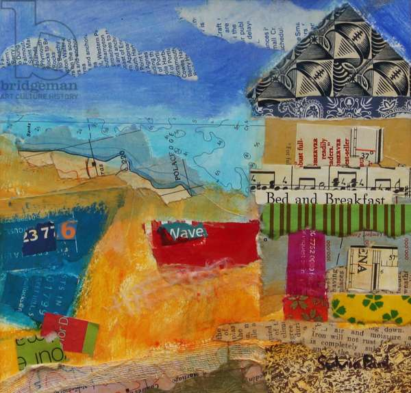 B&B by the Sea 2013, acrylic/paper collage