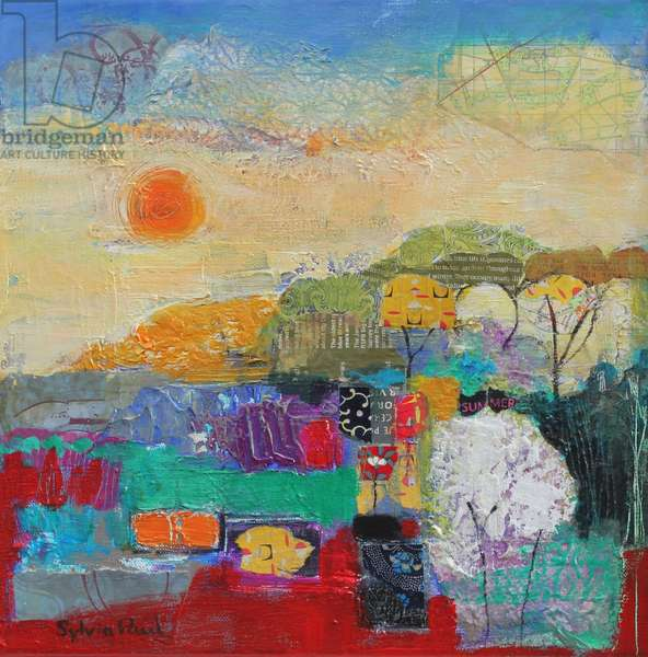 Colours of Summer 2014 acrylic/paper collage