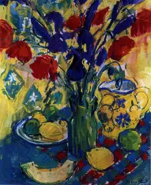 Poppies with Iris, 1999