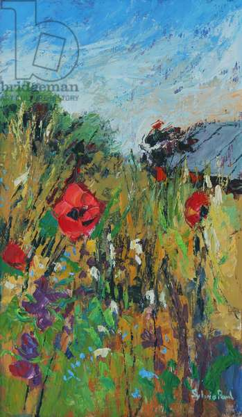 Meadow Flowers, 2012, oil on board