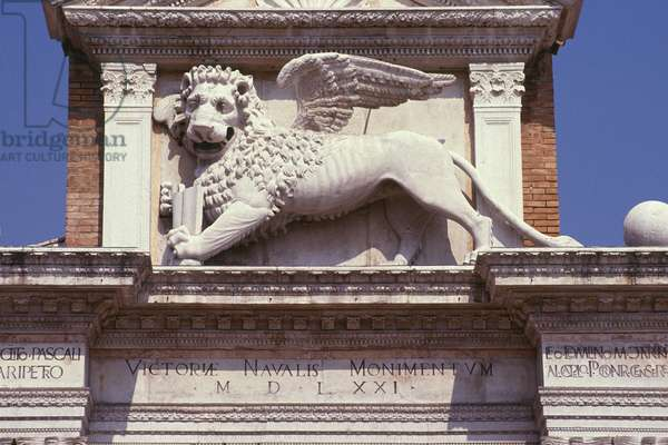 Winged lion of St. Mark above the gateway, c.1460 (marble)