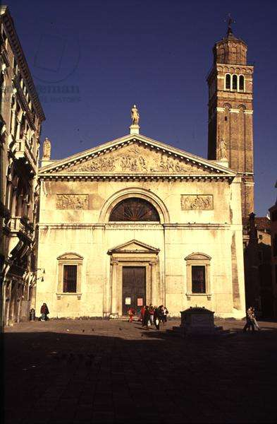 Church of San Maurizio, by Giovanni Antonio Selva (1753-1819) and Antonio Diedo, begun 1809 (photo)