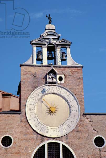 The Bell and Clock Tower, built in 11th and 12th century (photo)