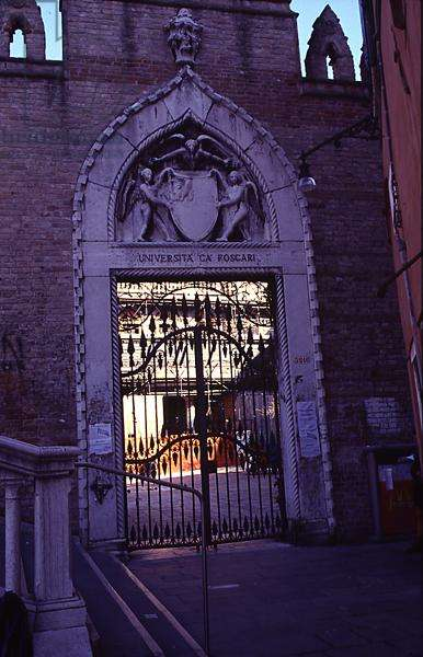 Gothic Doorway at the Land Entrance to Ca' Foscari (photograph)