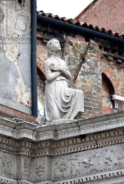 Angel on Courtyard Screen (stone)