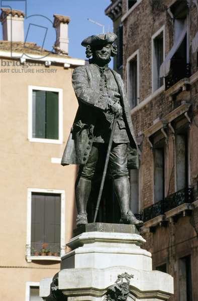 Statue of Carlo Goldoni (1707-93) 1883 (bronze)
