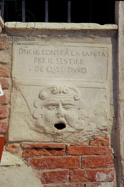 Denunciation Box on the Zattere (stone)