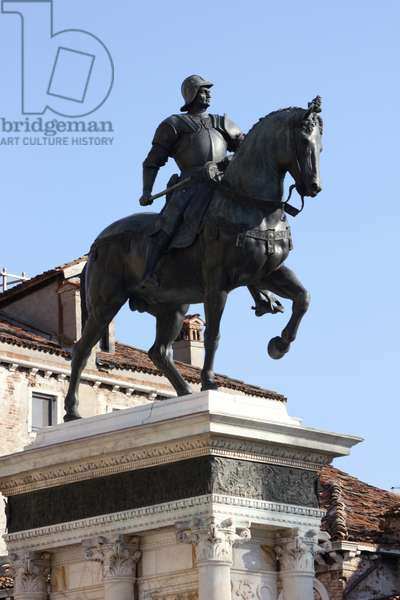 Equestrian Monument of Condottiere Bartolomeo Colleoni (bronze)
