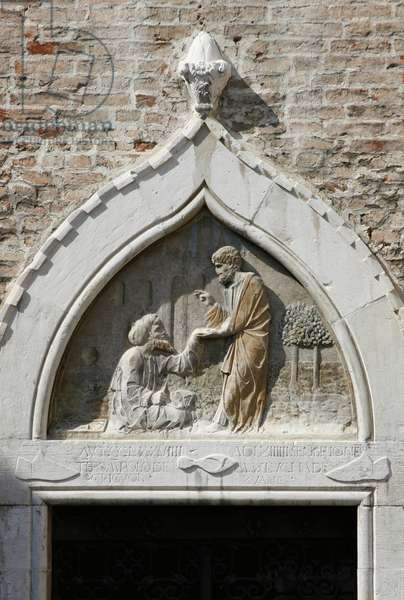 St. Mark Healing Ananias from the East, from the portal, 1478 (marble)