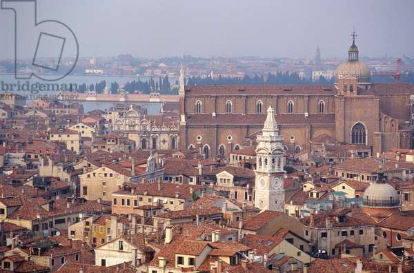 View north over the city towards Santi Giovanni e Paolo (San Zanipolo) (photo)