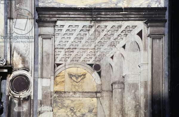 Trompe l'oeil panel, detail from the facade, 1487-1530 (marble)