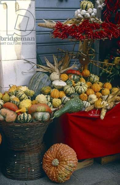 Display of Vegetables at Rialto Market (photo)