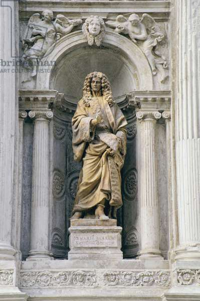 Portrait of Giovanni Maria Barbaro, from the facade of the church, 1680-83 (marble)