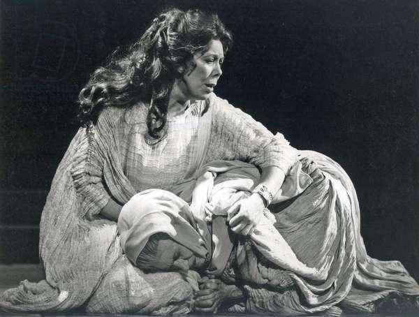 Janet Baker as Queen Alceste in 'Alceste', Royal Opera House, Covent Garden, London, England, 1981 (b/w photo)
