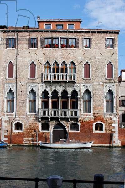 Palazzo Pesaro Papafava, on the Rio della Misericordia, Cannaregio, Venice (photo)