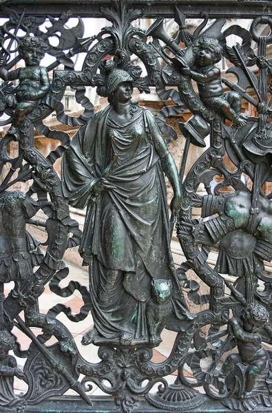 Gate to the Loggetta in Piazza San Marco, Venice (bronze)