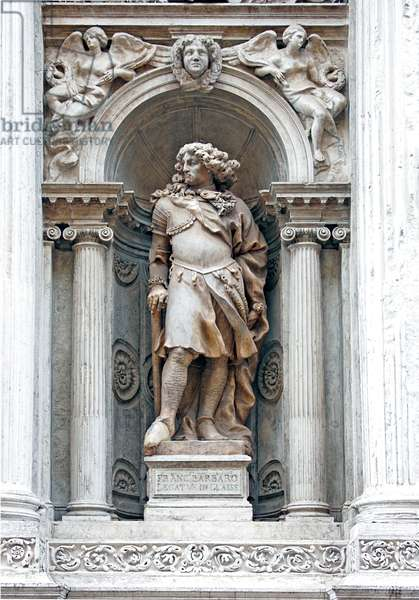 Statue of Francesco Barbaro (marble)