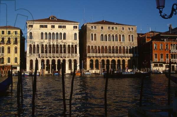 Palazzo Loredan (left) and Palazzo Farsetti (right) on the Grand Canal (photo)