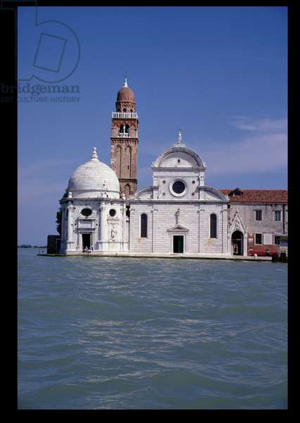 Facade of San Michele in Isola and the Cappella Emiliana (left) (photo)