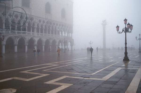 The Piazzetta in the fog (photo)