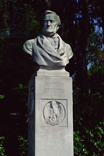 Portrait bust of Richard Wagner (1813-83) (marble) (see 152117)