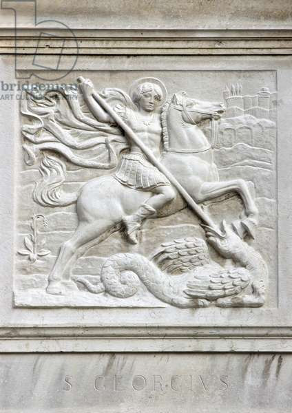 St George and the Dragon, 1926 (marble)