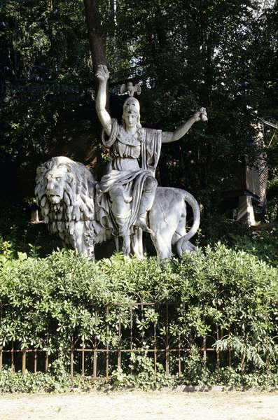 Minerva, Owl and Lion Statue (photo)