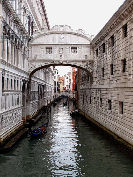 The Bridge of Sighs, on the Rio del Palazzo, Venice (photo)