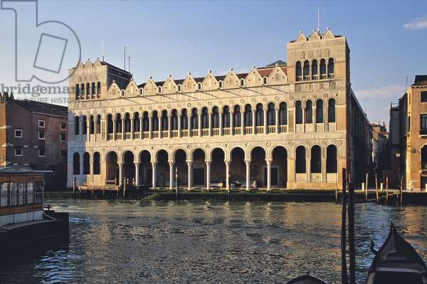Fondaco dei Turchi on the Grand Canal, Venice, now the Museum of Natural History (photo)