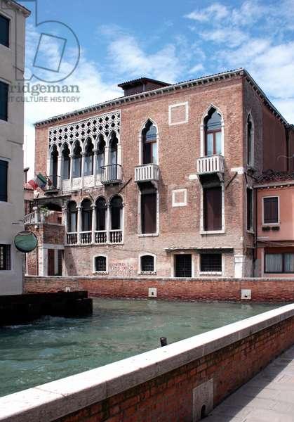 Palazzo Arian Cicogna on the Rio di San Sebastiano, Venice (photo)