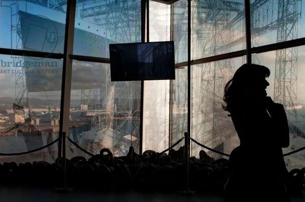 Inside Titanic Belfast museum and Visitors Centre, Titanic Quarter, Belfast, Northern Ireland, UK (photo)