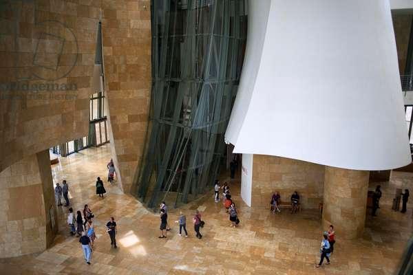 Inside Guggenheim Museum, Bilbao, Euskadi, Basque Country, Spain (photo)