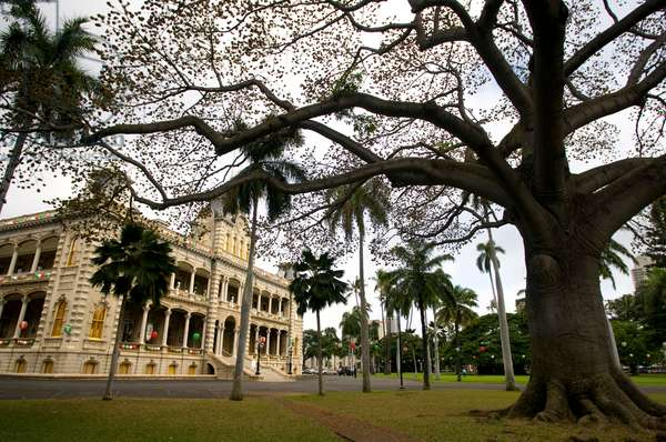 The Iolani Palace In Honolulu, O'ahu. Hawaii (photo)