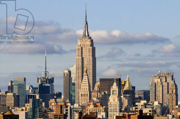 Empire State Building seen from Queens, New York, NY  (photo)