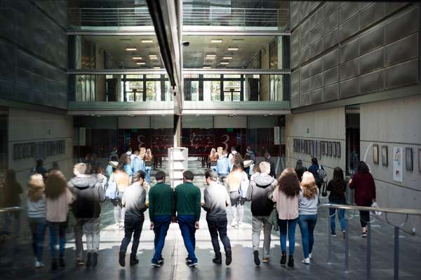 Journalism students at the Pompeu Fabra University of Barcelona, Catalonia, Spain (photo)