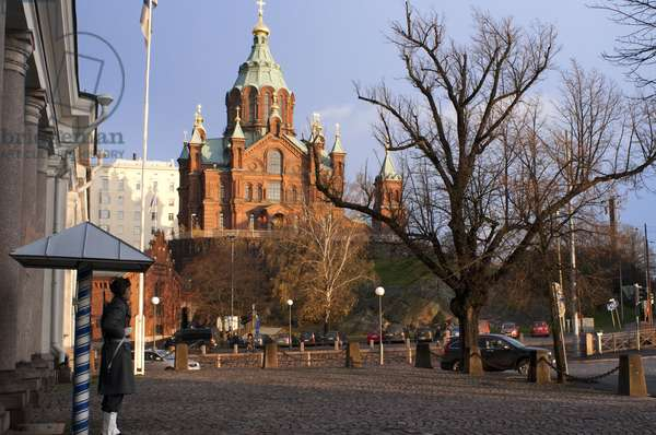 Uspenski Cathedral (1868), Eastern Orthodox Church, Katajanokka, Helsinki, Finland,  2018 (photo)