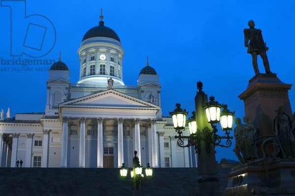 Helsinki lutheran cathedral in Helsinki, Finland, 2018 (photo)