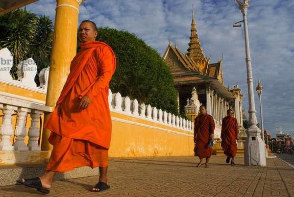 Monks, Royal Palace, Cambodia (photo)