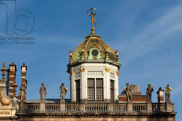 Dome of the Maison des Boulangers, Roi d'Espagne, guild house of the bakers, Grote Markt, Grand Place (photo)