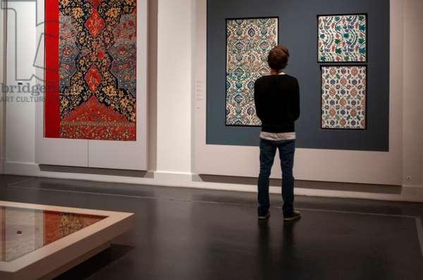 Tapestry in Pergamon Museum, Museumsinsel (Museum Island), Berlin-Mitte, Berlin, Germany (photo)