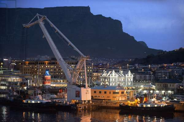 Waterkant district, Victoria & Alfred Waterfront at night, Cape Town, South Africa, 2018 (photo)