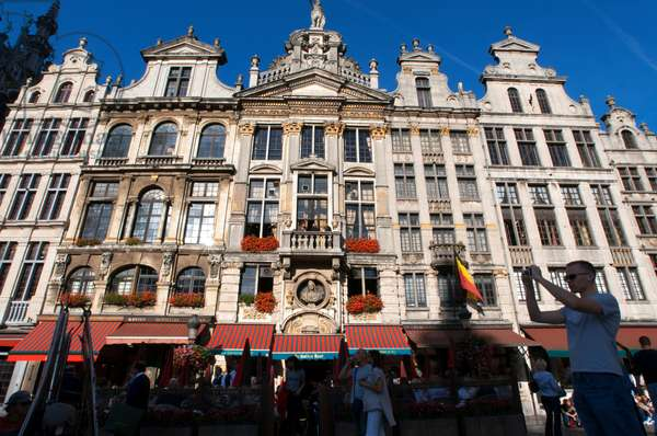 La Chaloupe D'Or - The Golden Boot restaurant in Grote Markt (The Grand Place) in central Brussels Belgium (photo)