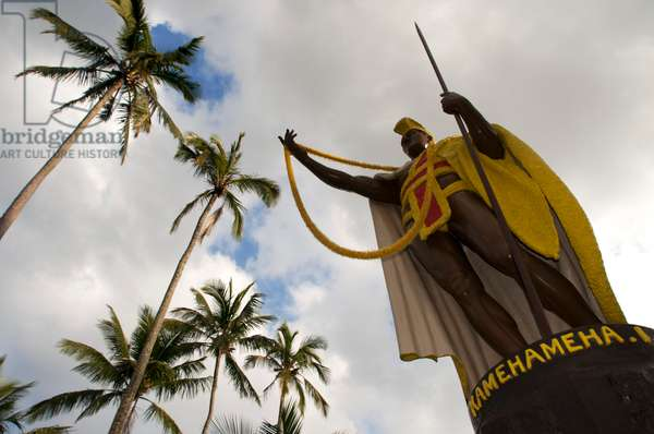 Statue of Kamehameha the Great in Kapa'au, Big Island, Hawaii (photo)