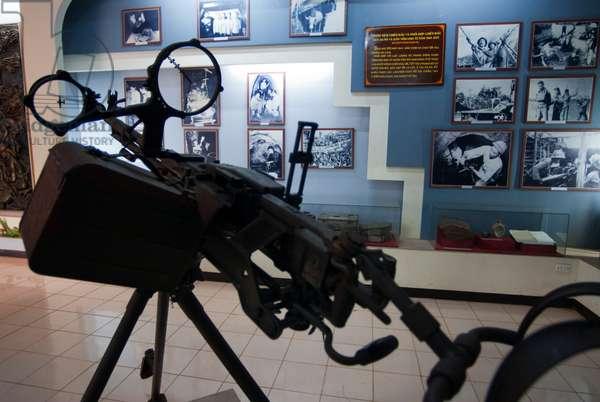 Inside the Khe Sanh Memorial Museum of the Vietnam War in the Demilitarized Zone, Vietnam (photo)