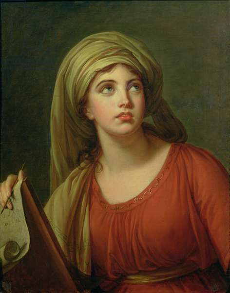 Portrait of Emma Hart (c.1765-1815) later Lady Hamilton, as a Sibyl, c.1792 (oil on canvas)
