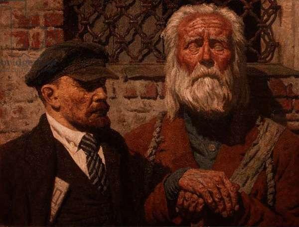 Conversation, 1980-85 (oil on canvas)
