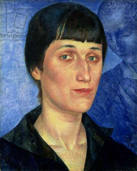 Portrait of Anna Akhmatova (1889-1966) 1922 (oil on canvas)