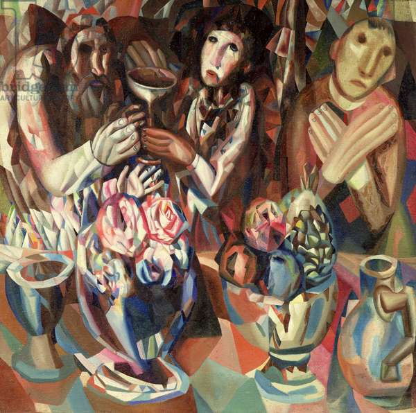 The Three at the Table, 1914-15 (oil on canvas)